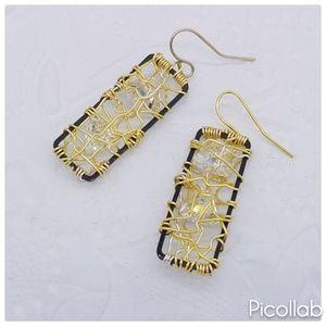 Caged Swavorski Earrings